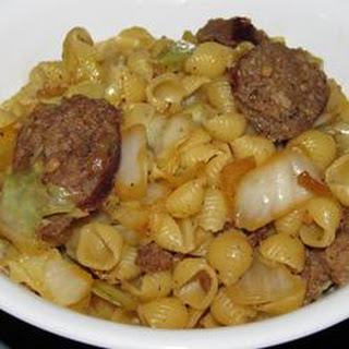 Cabbage and Smoked Sausage Pasta.