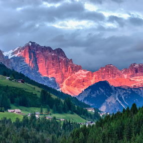 Red Dolomites by Giancarlo Bisone - Landscapes Mountains & Hills ( mountains, red, sunset, dolomites, italy )