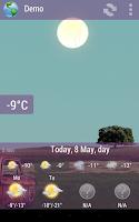 Screenshot of Animated Weather Widget&Clock