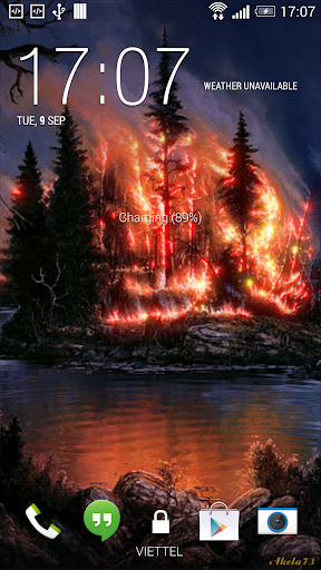 Forest Fires Live Wallpaper