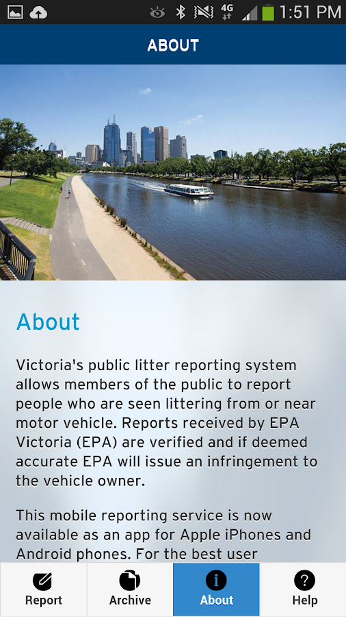 Report Litter- screenshot
