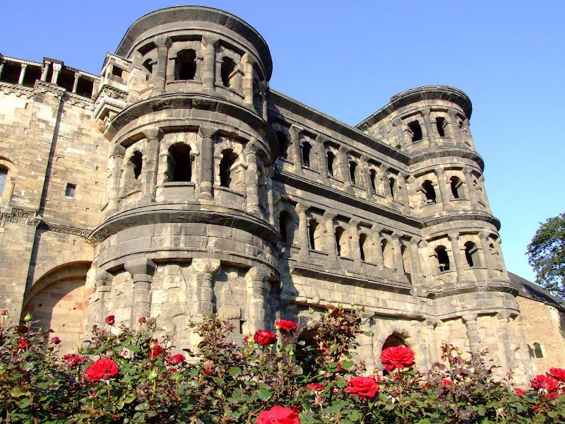 A historic building near Porta Nigra in Trier, Germany.