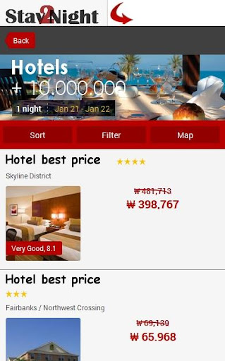 Phoenix Hotel Map