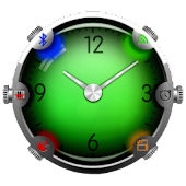 Colorful Glass Clock Widget