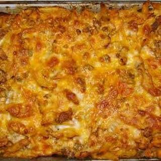 Chicken and Chorizo Pasta Bake.