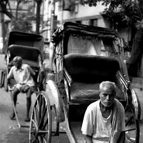 Kolkata Rickshawpuller by Abhijeet Kumar - People Street & Candids ( rickshaw puller old man, rickshawpuller )
