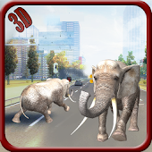 Elephant City Run 3D