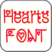 Hearts font pack for Galaxy