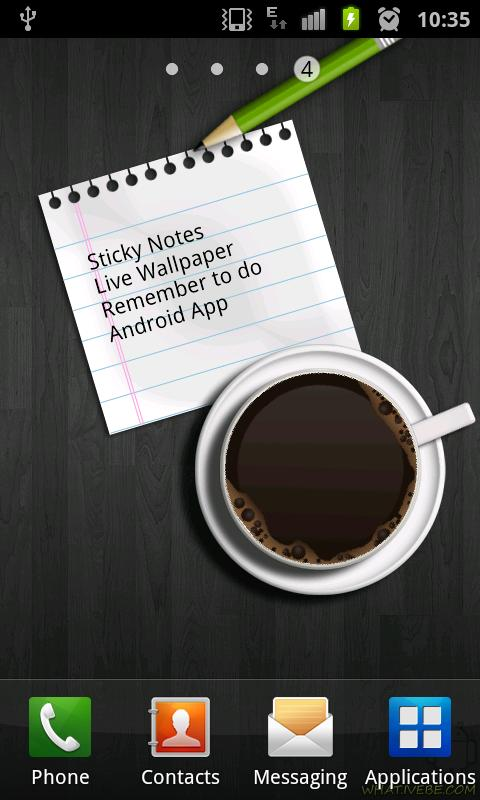 Sticky Notes Live Wallpaper- screenshot