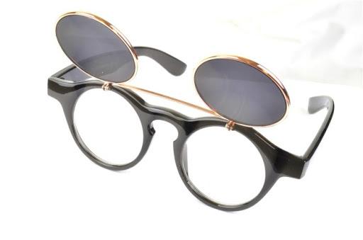 ea6d8f437b Retro glasses  are flip up lenses back