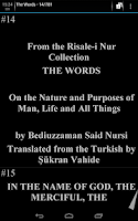 Screenshot of Risale-i Nur Collection