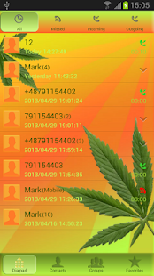 Weed Ganja - GO Contacts Theme- screenshot thumbnail