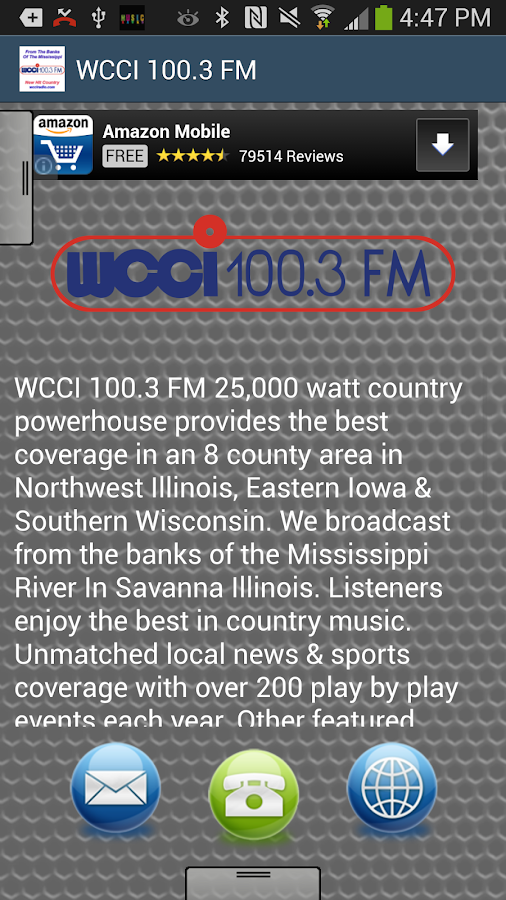 WCCI 100.3 FM - screenshot