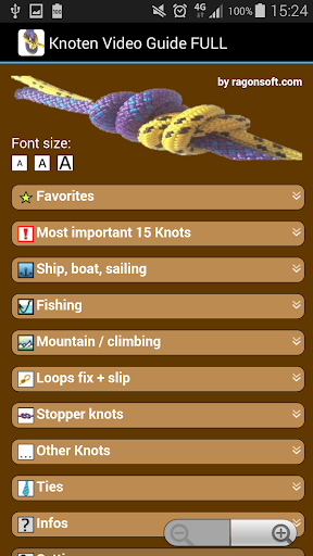 Knot Video Guide FULL app for Android screenshot