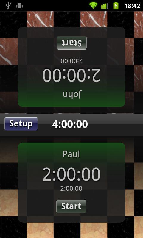 Chess Clock- screenshot