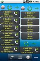 Screenshot of Home Screen Call Logs Donation