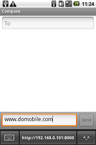DoMobile ShareKeyboard - screenshot