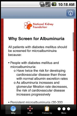 Screening for Albuminuria - screenshot