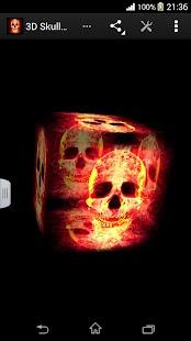 3D骷髏火焰壁紙