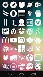 Stamped White Icons Screenshot 2