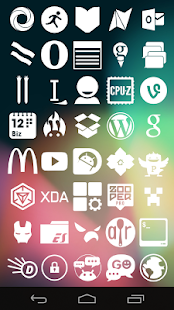 Stamped White Icons - screenshot thumbnail