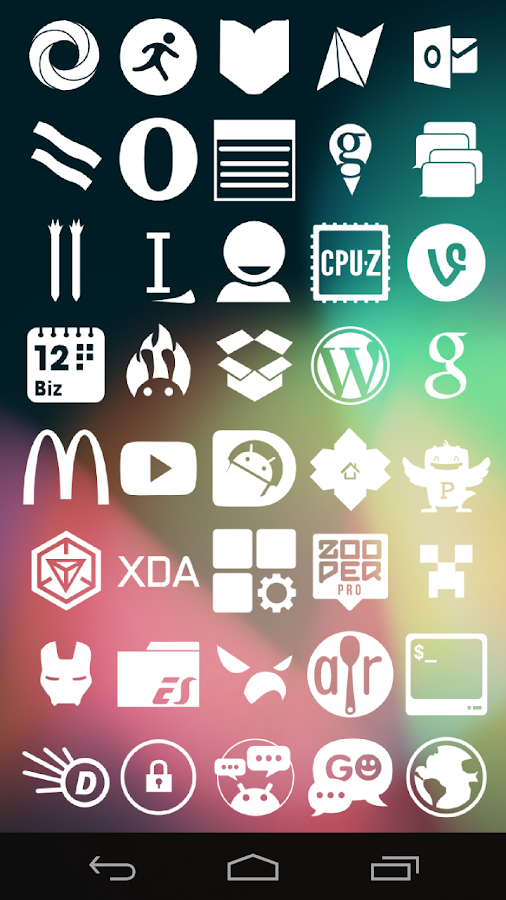 Stamped White Icons - screenshot