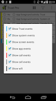 Screenshot of Trust - Event Logger
