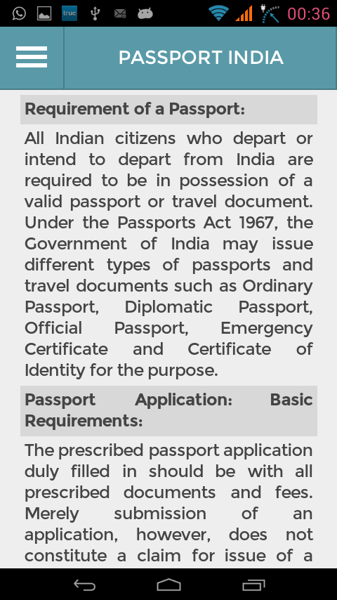 Passport india passport seva android apps on google play passport india passport seva screenshot ccuart Images