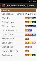 Screenshot of London Train Route Planner