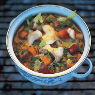Salt cod soup (Zuppa di baccala).