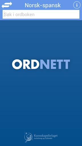 Ordnett - Spansk blå ordbok