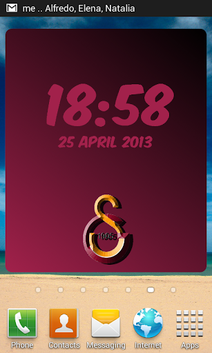 Digital Clock Galatasaray