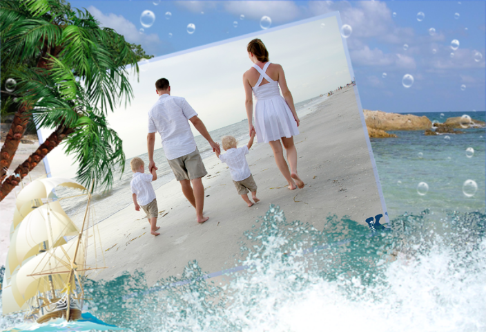 beach photo frames screenshot
