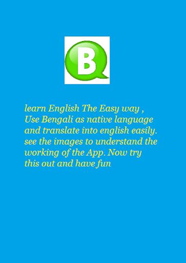 Bengali To English Speaking