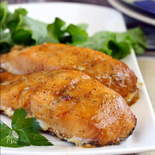 Honey Glazed Wood Roasted Salmon.