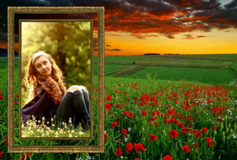nature frames photo editor screenshot