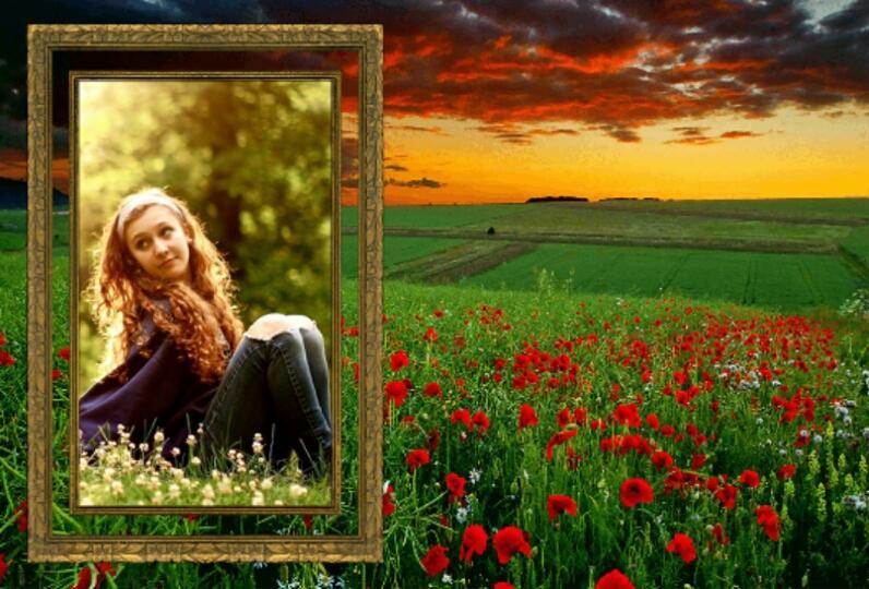 nature frames photo editor screenshot