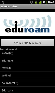 Eduroam Fixer - screenshot thumbnail