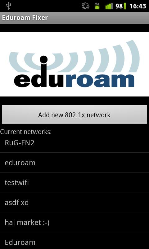 Eduroam Fixer - screenshot