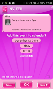 Inviter (SMS to Calendar)- screenshot thumbnail