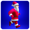 Santa Claus running icon