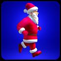 Santa Claus running icon