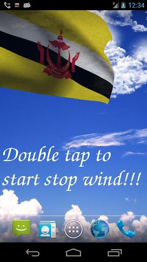 3D Brunei Flag LWP
