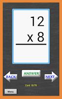 Screenshot of Math Multiplication FlashCards