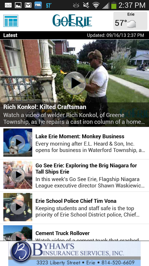GoErie App- screenshot