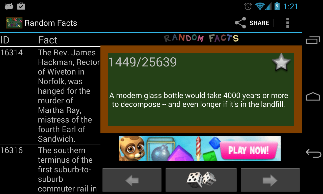 Random Facts 25,000+ - screenshot