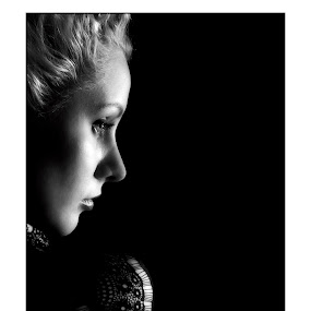 In A Dreams by Renata Apanaviciene - People Portraits of Women ( look, black and white, gilr, woman, lady,  )
