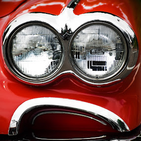 Corvette 01 by Hiram Christian - Transportation Automobiles ( corvette headlights red minion despicable me )