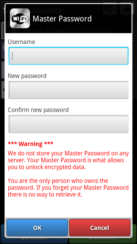 WiFi+ Password Manager - screenshot