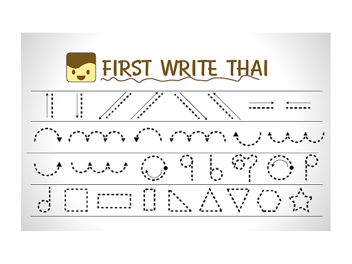 Kid first write thai
